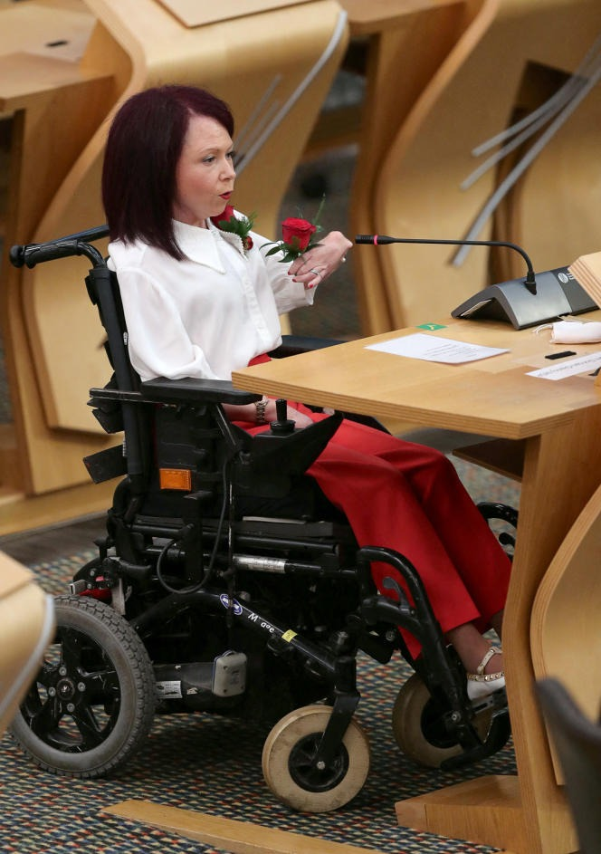 Labor elected Pam Duncan-Glancy at the Scottish Parliament in Edinburgh on May 13, 2021.