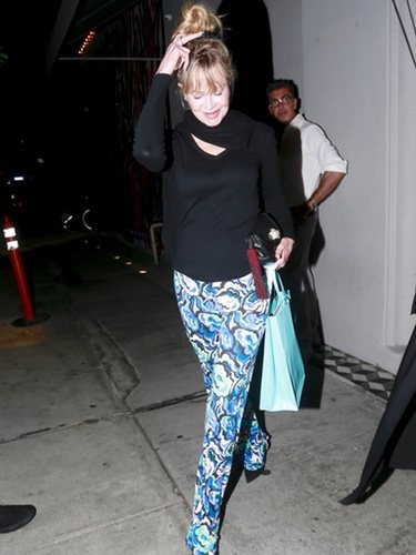 Melanie Griffith dresses up as a hippie in her last public appearance