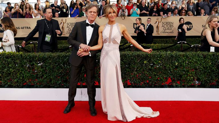 William H. Macy and Felicity Huffman, on the red carpet, long before the scandal was known