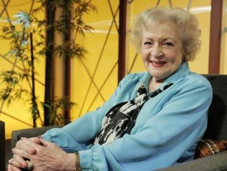 Archive image of 88-year-old actress Betty White who just won her fifth Emmy
