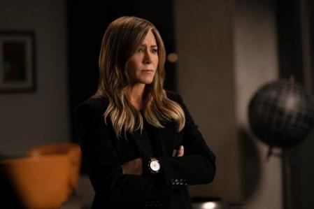 This image released by Apple TV Plus shows Jennifer Aniston in a scene from