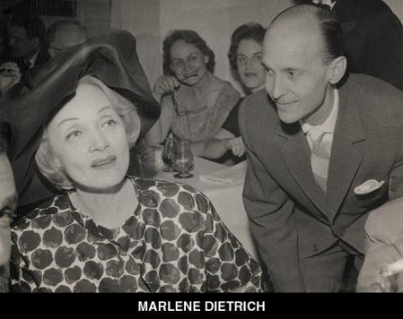 Marlene Dietrich, another visitor to the Corral