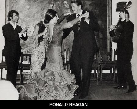 President Ronald Reagan was encouraged to dance in the tablao