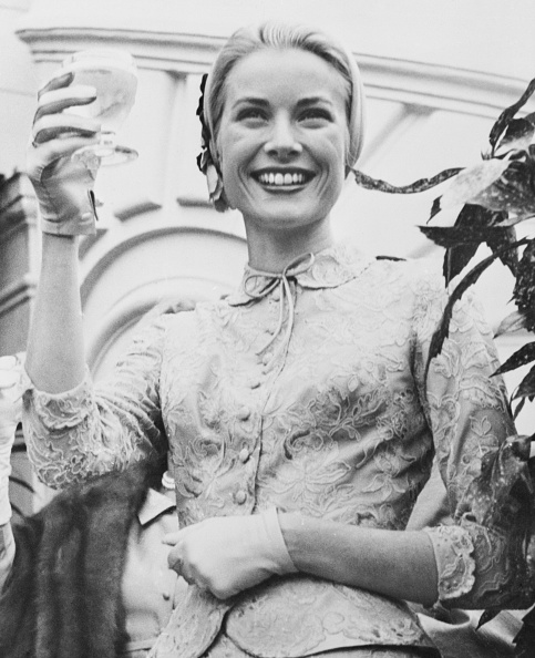 Grace Kelly on the day of her civil wedding on April 20, 1956. (Photo: Getty Images)
