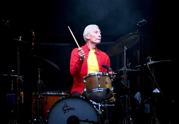 Charlie Watts shows his love for jazz while continuing to preserve his place as drummer for the Rolling Stones.  Photo EFE
