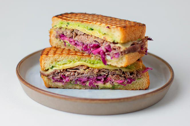 The pastrami sandwich designed by chef Simon Horwitz.