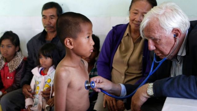 Clinic in Vietnam managed by the Franciscan Missionaries organization.